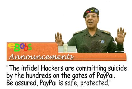 Sleazebay-Preypal Spokesperson Bagdad Bob