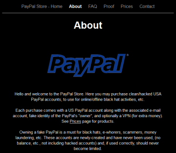The Paypal Store About