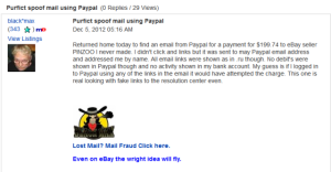 Ebay Members Receiving Paypal Phishing Emails Addressed to their Proper Name