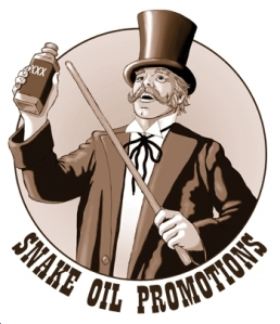snake oil pitchman