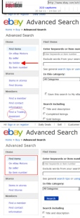 ebaY Removes Advanced Search by Bidder Feature