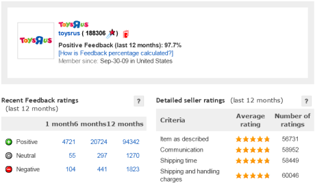 eBay Feedback Profile for toysrus_13112013_c